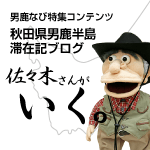Sasaki goes (description of Oga, Akita Peninsula stay | Oga nabi feature contents)